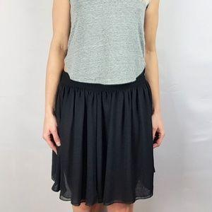 New American Apparel Black Skater Skirt XS/S